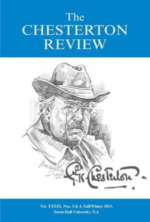 Portada del número de invierno de 2013 de 'The Chesterton Review'
