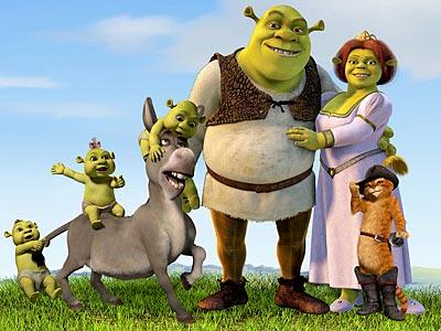 Shrek, su familia y sus amigos. Teocio.es