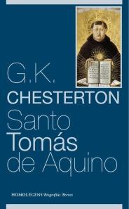 Portada de Santo Tomás de Aquino, de Chesterton (Homo Legens)