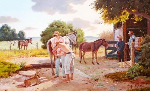 Alonso Morales, Venezuela. Pintura moderna al óleo