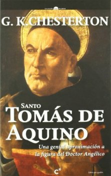 Portada de una edición de Sto. Tomás de Aquino de Chesterton en español