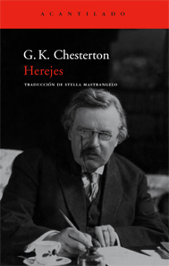 Portada de 'Herejes', de Chesterton, publicado por Acantilado