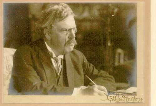 Fotografía autografiada de Chesterton. Topmeadows.com