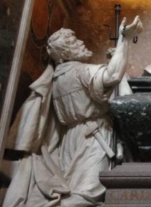 Jornalero en la tumba de LeónXIII