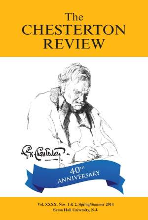 The Chesterton Review, editada por el The G.K. Chesterton Institute for Faith and Culture. Portada del último número.