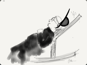En cada relato del Padre Brown siempre hay ocasión por la risa, aun en mitad del drama. Ilustración: casapomelo.